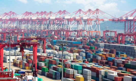 SHANGHAI PORT FACES CONTAINER SHORTAGE AMID TRADE RECOVERY